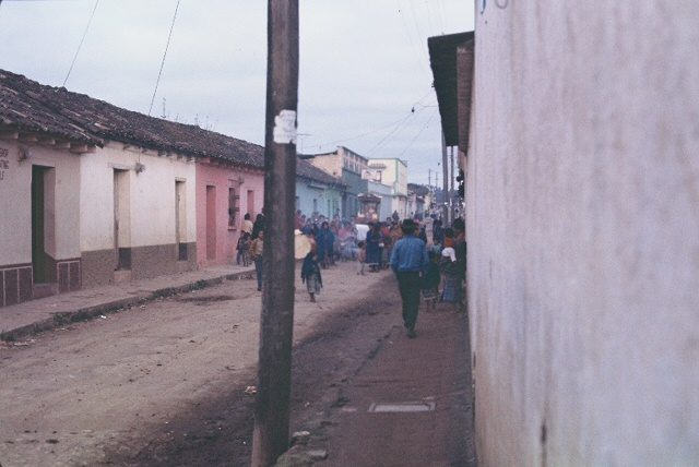 Street in front of our house in Comalapa