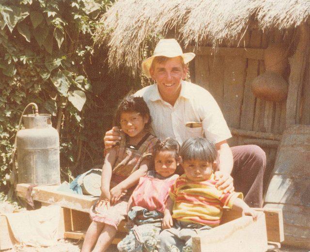 Elder David Frischknecht with Magdelena, Florinda, and Rolando Choc