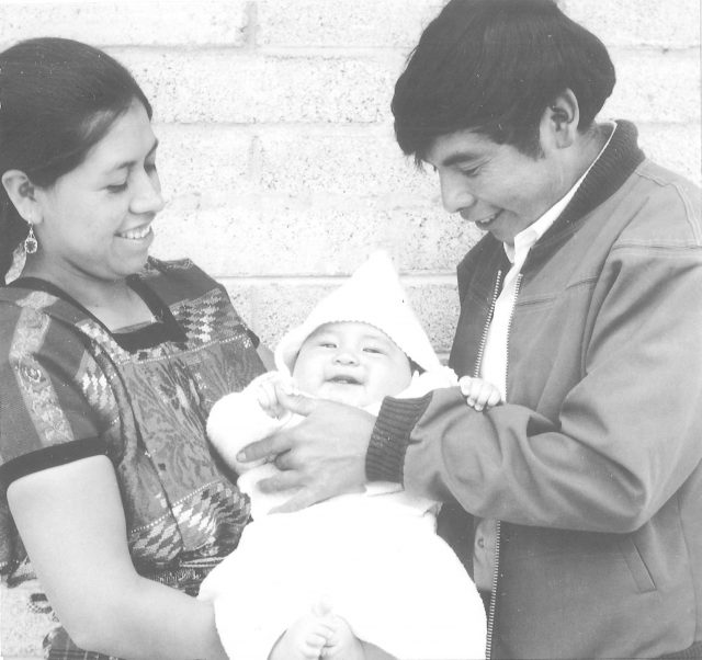 Elena and Rigoberto Miza and their new baby Lery Nelson Miza. The baby was named after Elder Larry Richman and Elder Nelson.